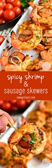 Spicy Shrimp and Sau (alaridesign) Tags: spicy shrimp sausage skewers