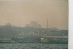 View from ferry Bosphorus Istanbul (redchillihead) Tags: warren smart greece turkey 1989 view from ferry bosphorus istanbul 1980s oe kiwi traveller