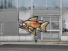 Graffiti Lille (Estellanara) Tags: street art graffiti tag graf un lille poisson par artiste lhomme faits surnomm