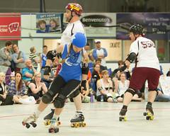 "IMG_0595 (clay53012) Tags: ice team track flat arena madison skate roller jam derby league jammer mrd bout ""flat wftda derby"" ""women's dolls"" team"" ""men's track"" hartmeyer ""milwaukee ""dairyland blitzdkrieg"""