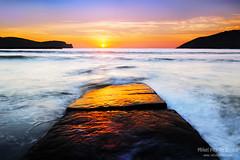 Rocky pier in Plentzia (Mimadeo) Tags: ocean longexposure sunset sea sky seascape water rock landscape evening pier spain plentzia bizkaia gorliz euskalherria euskadi vizcaya basquecountry paisvasco plencia