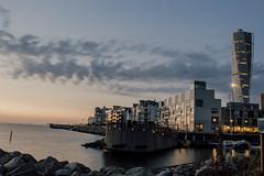 turning torso (rodesueco) Tags: ocean blue sunset sea summer sky water nikon europe cityscape sweden malmoe sverige malm malmo suecia nikond3200 d3200 skneln nikond3200photography