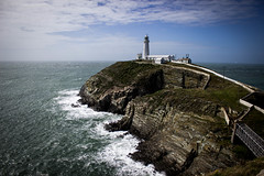 South Stack (mlomax1) Tags: bridge sea sky cloud lighthouse wales canon waves cymru cliffs ynysmon anglesey southstack eos600d