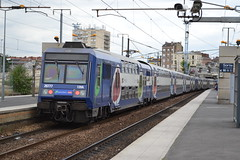SNCF Transilien (Will Swain) Tags: travel france station train de french europe gare north transport july rail railway trains des east seen railways 13th franais socit parisian fer nationale 2015 chemins noisylesec