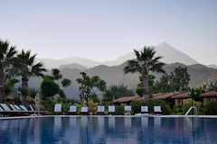 Turkish Riviera (ardac) Tags: mountains pool turkey hotel view turquoise türkiye palm antalya palmiye olympos sunbed otel manzara dağlar havuz olimpos çıralı şezlong