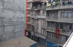 P1110072 Thamel street view from my GH bedroom window (ks_bluechip) Tags: nepal trel dec2016 annapurna mohare khopra muldhai abc mbc pokhara kathmandu