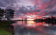 Sunrise of 2017 (Md Farhan's Gallery) Tags: putrajaya komplekssukanair landscape sunrise malaysia lensamalaya nationalgeographic nature reflection travel ray lake cloud sky building fujifilm fujinon xt1 xf1024mm