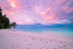 ✦ Now featuring: Blue Hour by icemanphotos Share my photos... (flavoredtape) Tags: seascape holiday travel solitude sky sunbeds blue