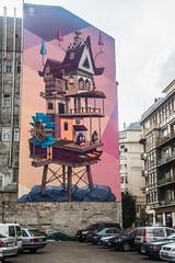 20160919 Budapest, Hungary 03592 (R H Kamen) Tags: budapest easterneurope hungary pest architecture buildingexterior mural rhkamen