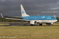 PH-BGU Boeing 737-700 KLM Edinburgh airport EGPH 04.11-16 (rjonsen) Tags: plane airplane aircraft flying machine blue pig