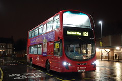 Arriva DW578 (LJ13CJV) Turnpike Lane Stn 10th Dec 2016 (BristolRE2007) Tags: arriva arrivalondonnorth london londonbus daf wright lj13cjv turnpikelane