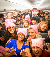 2017.01.20 Alaska Air Flight 6 in Pink LAX-DCA 00048