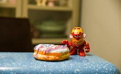 STOP (Dotsy McCurly) Tags: stop smell donuts toy ironman smileonsunday funnyfood fun nikon d750 nj