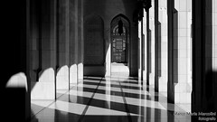 Games of light and shadows, Muscat - Oman (marcomariamarcolini) Tags: oman muscat arab mosque light sunset ceiling nikon nikkor marcomariamarcolini wow digital resolution detail shadows monochrome mono bw blackandwhite bianconero bianco nero bn blanco negro monocromo chiaroscuro bnw