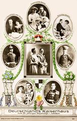 Deutsches Kaiserhaus 1913 (zimmermann8821) Tags: atelierfotografie berlin deutscheskaiserreich familienfoto fotografiekoloriert mode person postkarte kaiserwilhelnmii