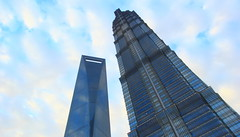 Shanghai, the neck pain maker (Eye of Brice Retailleau) Tags: beauty ciel clouds composition earth extérieur outdoor scenery scenic sky minimalisme nuage blue street streetphotography building buildings skyline cityscape china shanghai travel flickrunitedaward