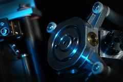 Inside of a 3-way construction laser for Macro Mondays (Wim van Bezouw) Tags: macromondays contraption sony ilce7m2 object laser metal construction