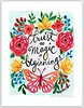 Trust the Magic of Beginnings (Regina Lord (creative kismet)) Tags: art painting watercolor butterfly flowers blooms trust magic words beginning new 2017 printable download
