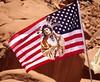 Navajo flag, Monument Valley, June 2016 (Judith B. Gandy) Tags: americans flags navajo utah monumentvalley nativeamericans