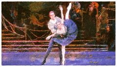 Black Swan - Cisne Negro (Leo Bar) Tags: ballet ballerina painting pixinmotion dance danza digitalart dark swanlake leobar texture tchaikovsky nyc netartii