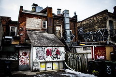 Vandelized. (Jerry's Lens) Tags: graffiti vaandelism vandelism trash alley tag colour color recycling old ghetto ruin