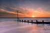 Sunset Over The Groyne (Sunset Snapper) Tags: sunsetoverthegroyne sunset sandypoint haylingisland hampshire southcoast uk groyne beach longexposure le filter lee littlestopper nd grad nikon d810 2470mm december 2016 sea seascape sunsetsnapper