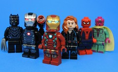 Team Stark (MrKjito) Tags: lego super hero comics comic marvel cinematic unvierse captain america civil war team cap stark iron man minifig