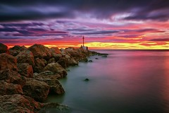 Lights (Anto Camacho) Tags: comunitatvalenciana valencia sunshine longexposure bigstopper seascape landscape colours rocks sea mediterraneansea seashore clouds