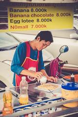 Dessert gourmand (Tom Piaï Photographie) Tags: nationalgeographic natgeo ngc voyageur voyage explorer traveler travel vientiane laos goûter gourmandise lait chocolat banane crêpe dessert nourriture food