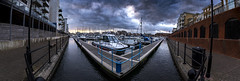 sovereign harbour panoramic (simon.anderson) Tags: simonanderson sovereignharbour harbour boats sussex eastsussex eastbourne waterways nikon d750 tamron1530 wideangle panoramic moody dramatic cloudy travel