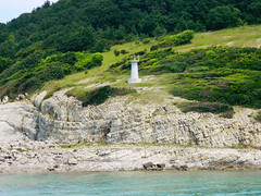 to the lighthouse (aorkanyalcin) Tags: nikon coolpix sea nature green lighthouse sky summer fun travel beautiful destinations hill landscape outdoor