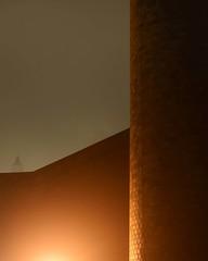 Industrial Utopia (Rh+) Tags: iowa cornell college utopia industrial brick fog foggy eerie night evening nikon d800 mountvernon