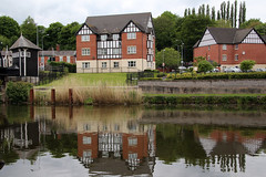 Northwich reflections (NTG's pictures) Tags: park england nature river boat canal lift cheshire canals ring trent rivers weaver mersey anderton northwich