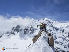 Arrived! (HendrikMorkel) Tags: mountains alps mountaineering chamonix alpineclimbing arêtedescosmiques arcteryxalpineacademy2015