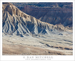 Eroded Ridge and Valley (G Dan Mitchell) Tags: park usa mountain southwest america utah desert north erosion ridge national valley fold capitolreef waterpocket
