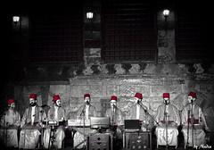 Religious Chanters   (Nadia Rifaat) Tags: old blackandwhite religious nikon egypt cairo coolpix  chanting troupe      l830   qubetelghouri