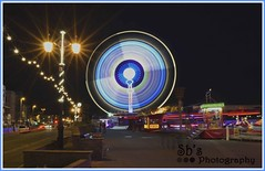 Worthing Funfair (SB Photo Designs) Tags: night lights worthing nikon nightlights westsussex slowshutter worthingpier funfair slowshutterspeed lighttrail nikond7000