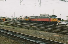 "Brush Type 4's 47635 & 47734 ""Crewe Diesel Depot Quality Approved"" & Class 66/0's, 66145, 66066, 66173, & 66186 (37190 ""Dalzell"") Tags: gm shed spoon brush crewe res duff revised generalmotors sulzer class66 ews class47 type4 dieseldepot 47029 47172 47583 47734 redgrey maroongold 66066 66173 66186 railexpresssystems class660 class474 englishwelshscottishrailways 47635 66145 d1606 parcelssector d1767 crewedieseldepotqualityapproved"