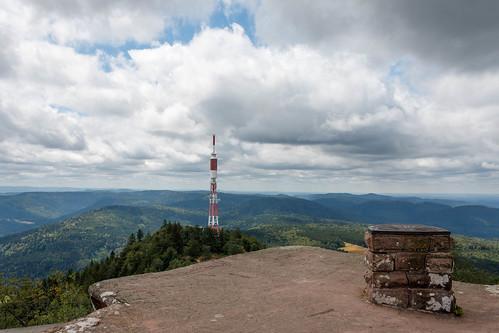Vue depuis le sommet du Donon (Altitude : 964 m)