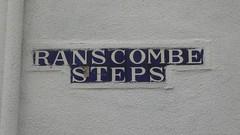 Brixham Blue Tile Street Signs (wirewiper) Tags: brixham bluetile devon torbay
