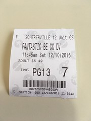 fantastic beasts and where to find them. december 2016 (timp37) Tags: movie ticket 7 schererville 12 indiana fantastic beasts where find them december 2016
