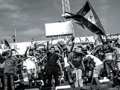 EM10-102016_Aniversario30GB-008 (Pablo Dalien) Tags: football futbol barrabrava hooligans colocolo chile estadio stadium people celebration flags fans fanatismo fanatic happy blackandwhite streetphotography santiago life style
