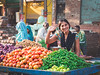 Hello (jyopattis) Tags: agra india travel asia olympus people local everydaylife documentaryphotography streetphotography street photojournalism colour color stall market vegetables outdoor indianmarket indiastreet