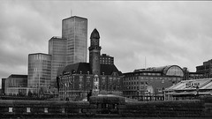 an architectural urban quilt stitched of old and new (lunaryuna) Tags: sweden malmo southsweden urban city urbanconstructs urbanspaces architecture oldandnew architecturalmix buildings history walkinthecity blackwhite bw monochrome lunaryuna