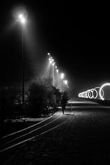 137/365 (alex bo.) Tags: 365 365project noiretblanc blackandwhite bw monochrome night nikon nikond90 light running nantes buren anneauxdeburen street streetphotography urban cityscape
