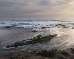Marina (Felipe Sepúlveda R.) Tags: verde sunset seascape sea beach rock sky clouds sand water seashore long exposure hdr color muted pichilemu chile sony sigma 1020 shoreline