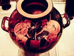 Ajax and Achilles gaming, Attic, Berlin Painter, ca. 490 BC, Greece (Sharon Mollerus) Tags: ajaxandachillesgaming attic berlinpainter greece greekart metropolitanmuseumofart newyorkcity terracottahydriakalpiswaterjar ca490bc redfigure xss newyork unitedstates