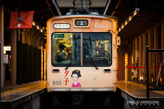 Ready to go (Pablo Arrigoni) Tags: japón train tren station estación japan japanese japonés color colors colores colours ready listo partir start go kyoto asia asian canon eos eos70d 70d 18135 travel trip viaje viajar vías railway light luz platform andén