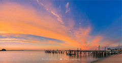Sunrise Provincetown - Cape Cod - Massachusetts (~ Floydian ~ ) Tags: henkmeijer photography floydian usa unitedstates newengland massachusetts capecod provincetown ptown oldjetty sunrise dawn morning light historicplace sea water atlanticocean colourful colorful clouds skyonfire leefilters panorama pano panoramic landscape wideview canon canoneos1dsmarkiii