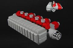 S.S. Enkidu (Karf Oohlu) Tags: lego moc microscale microspacetopia supplyship enkidu scifi spaceship cargoship